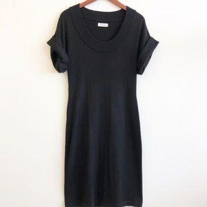 CALVIN KLEIN Scoop Neck Knit Sweater Dress SZ S
